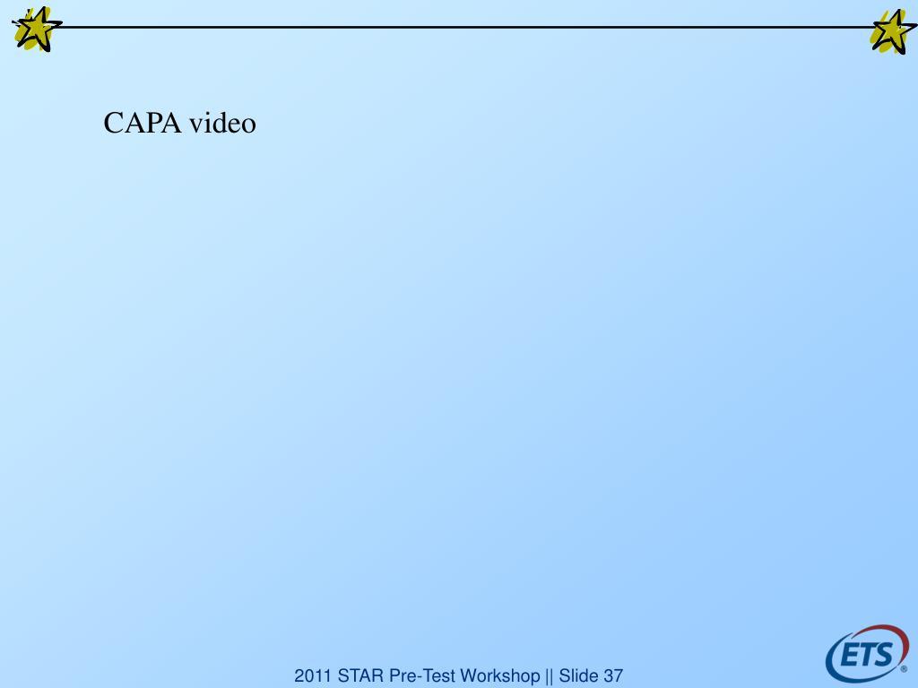 CAPA video