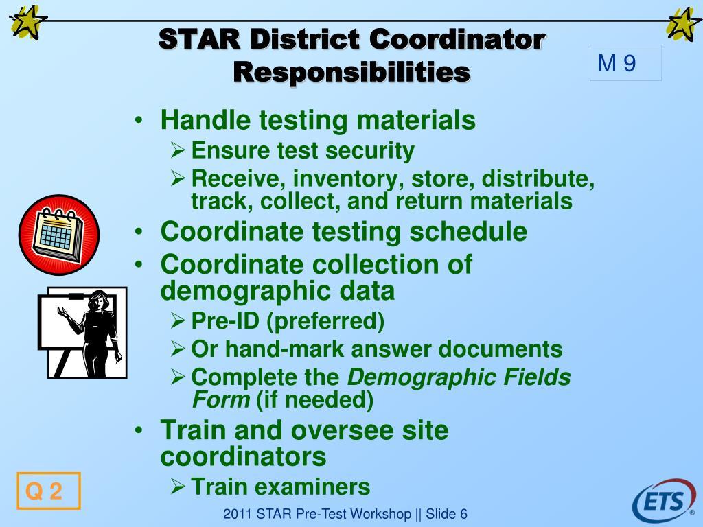 STAR District Coordinator