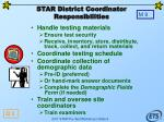 star district coordinator responsibilities