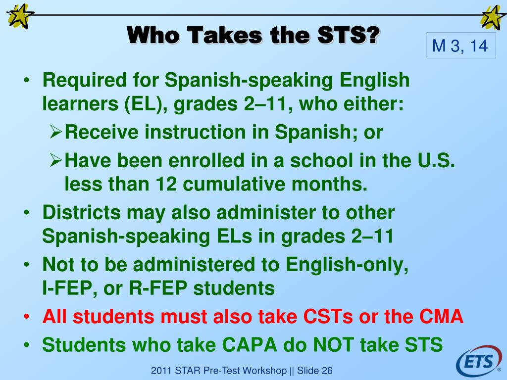 Who Takes the STS?