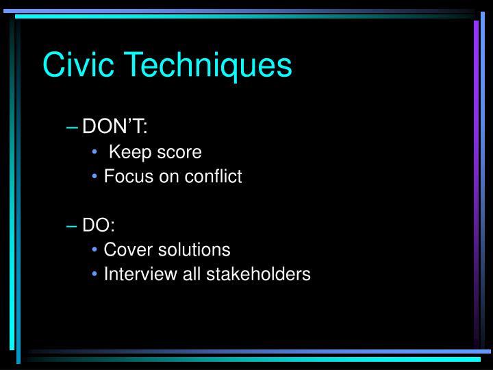 Civic Techniques