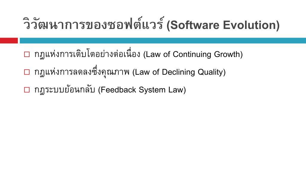 วิวัฒนาการของซอฟต์แวร์