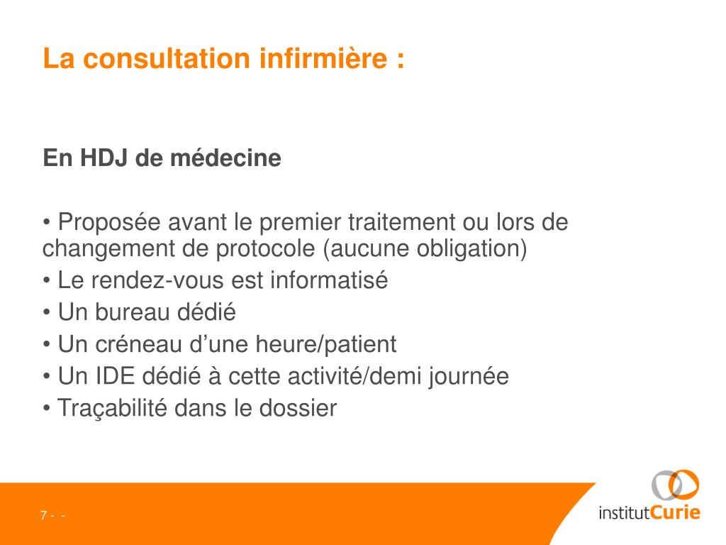 La consultation infirmière :