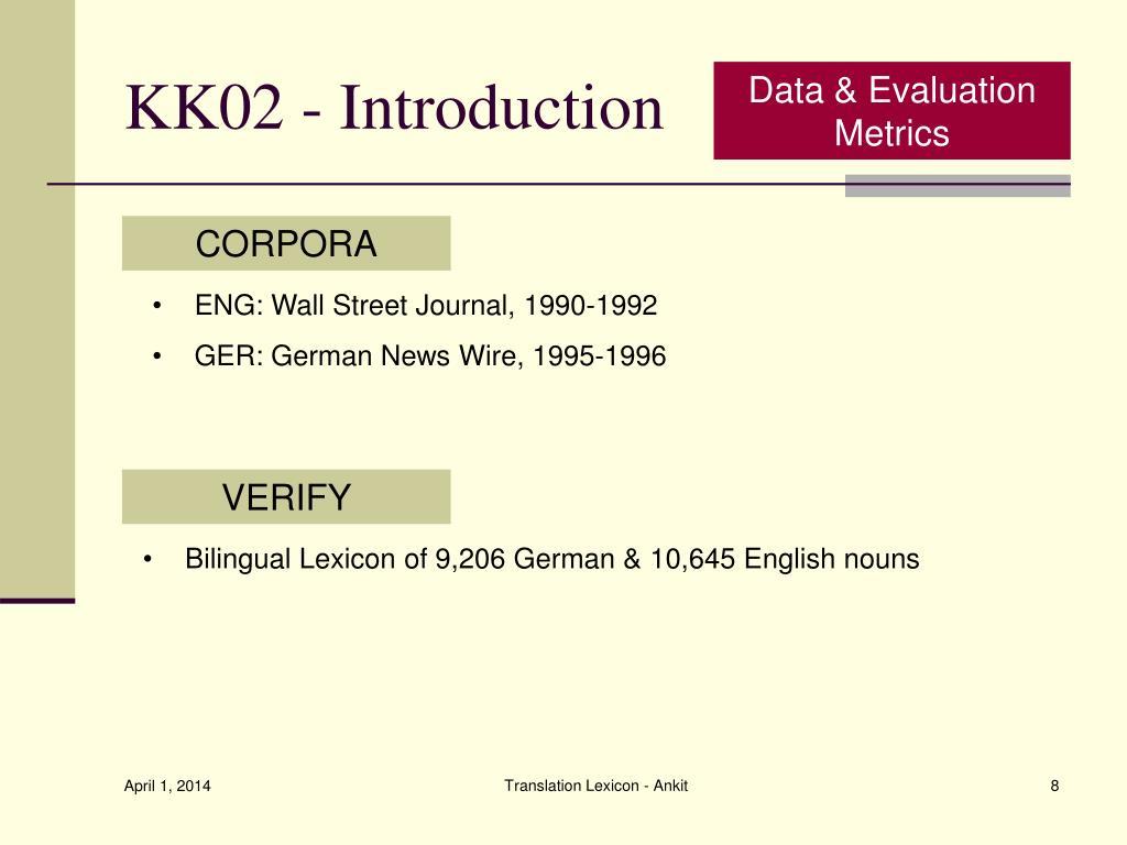 KK02 - Introduction