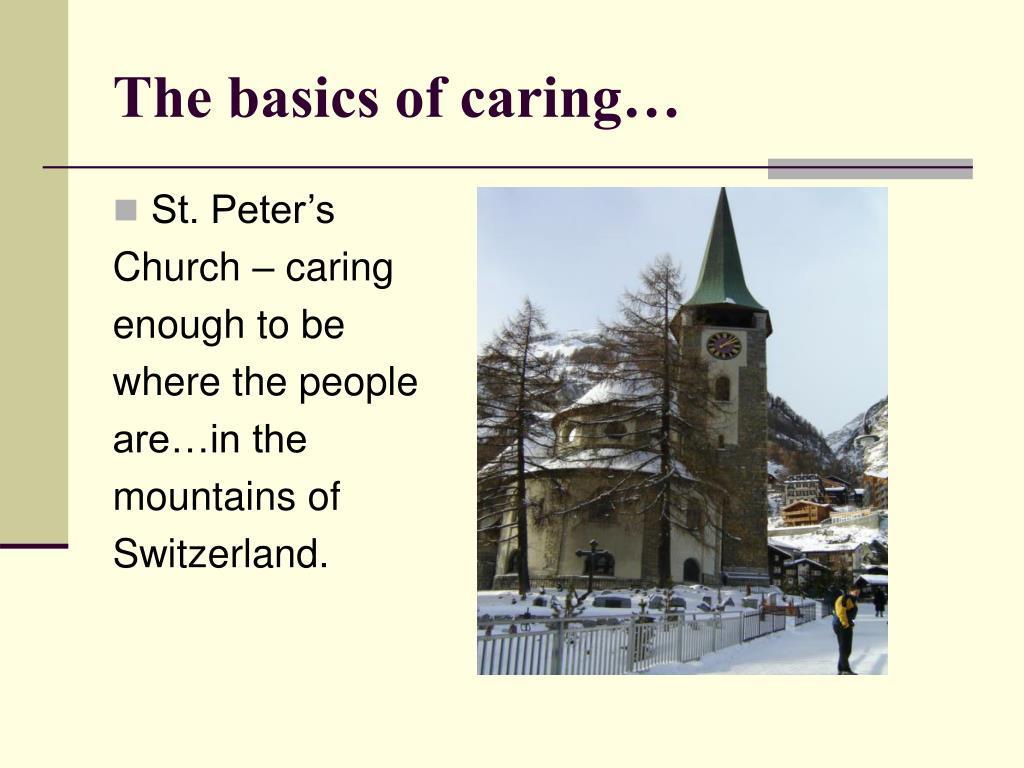 The basics of caring…
