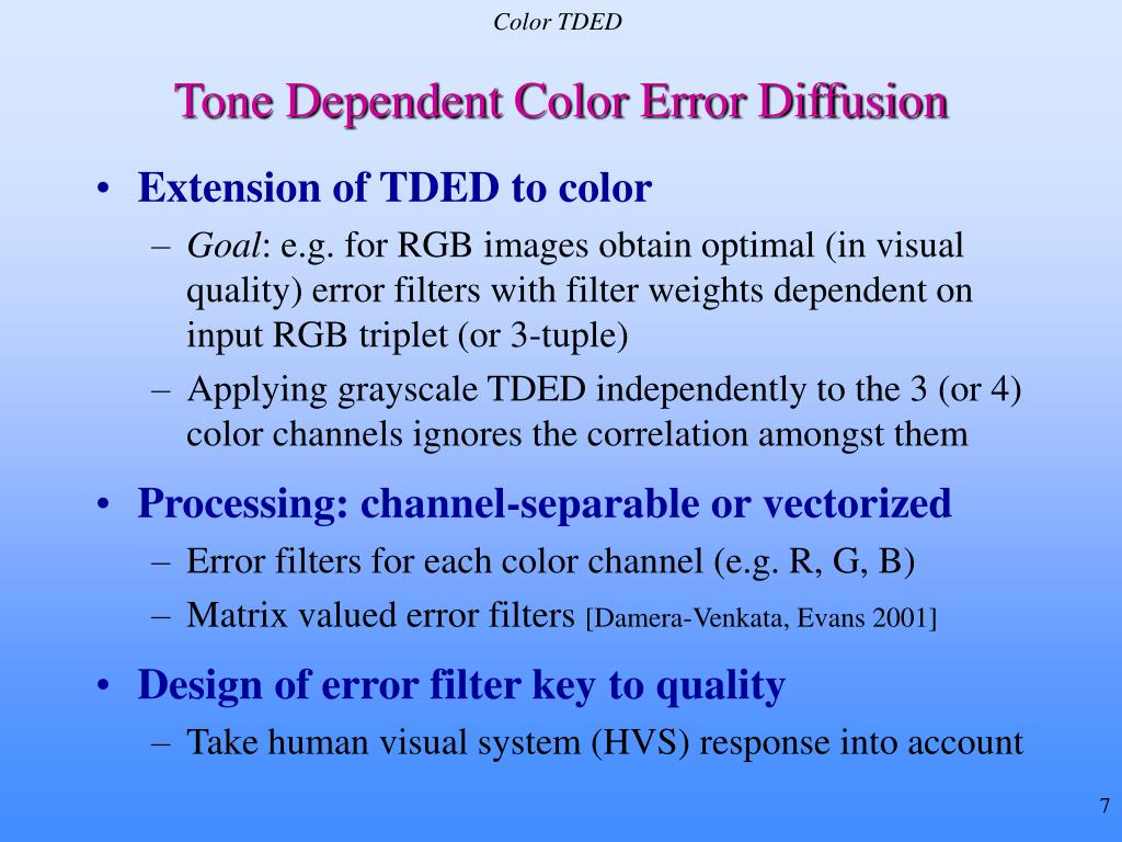 Color TDED