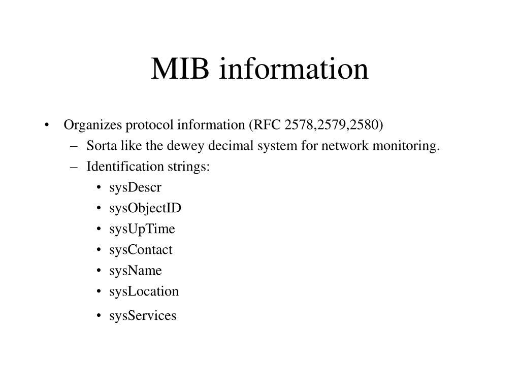 MIB information