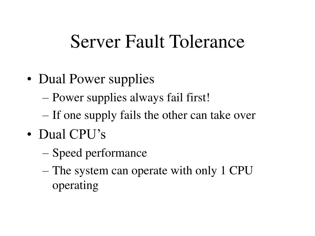 Server Fault Tolerance