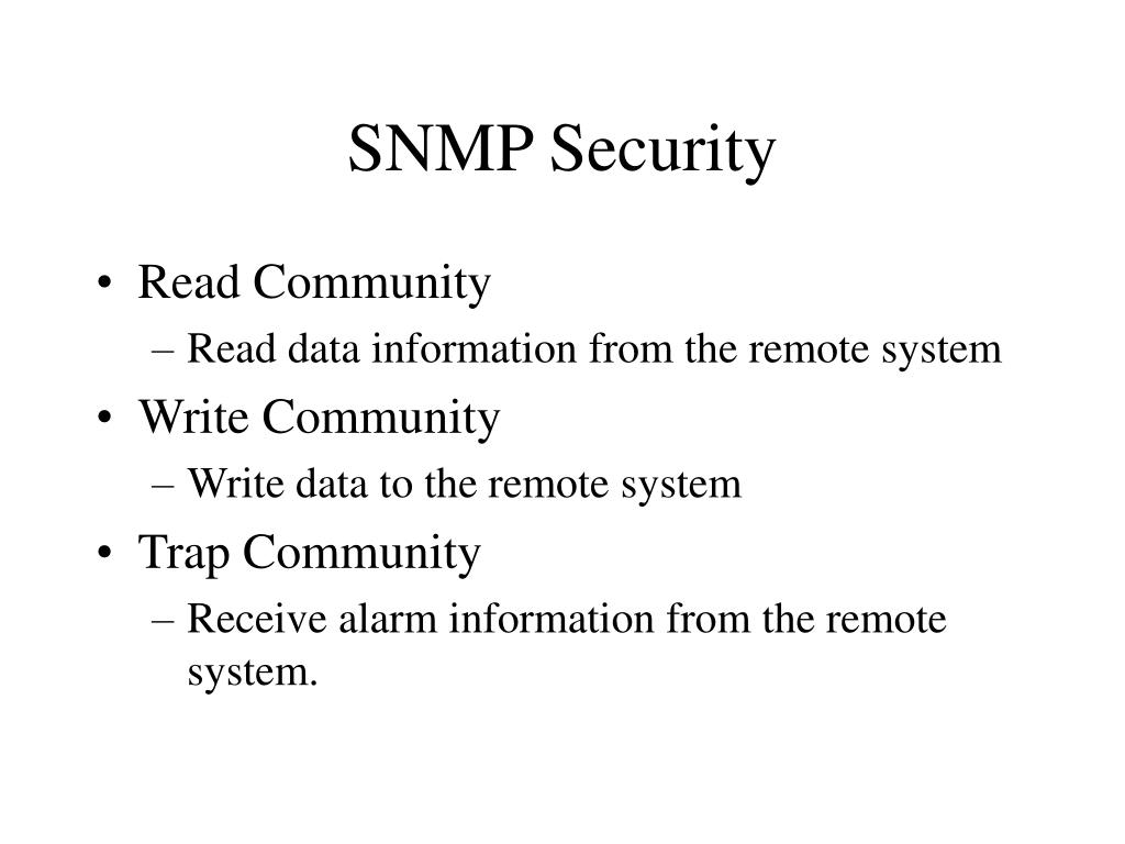 SNMP Security