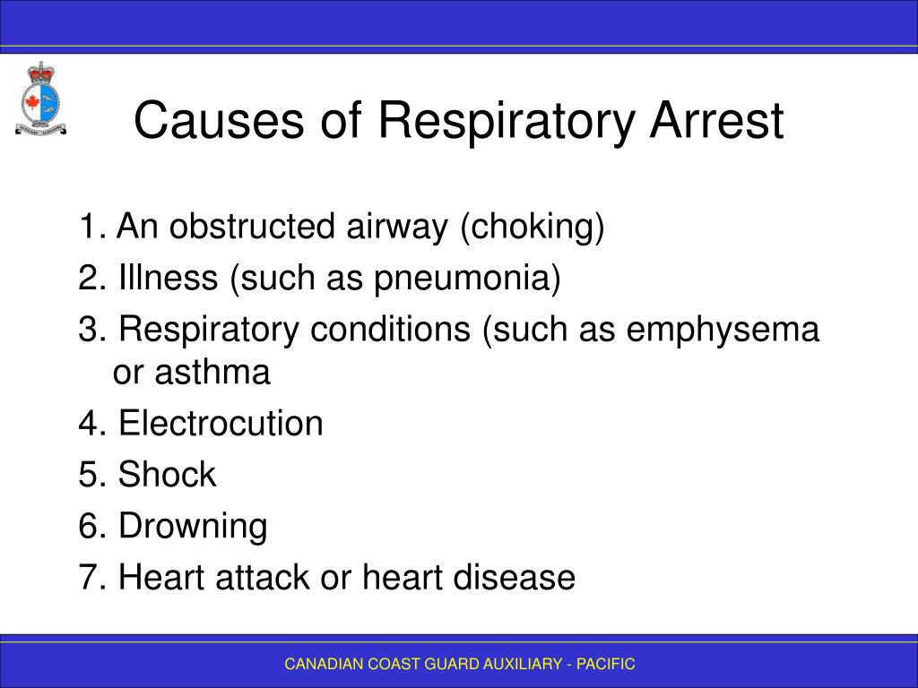 Causes of Respiratory Arrest