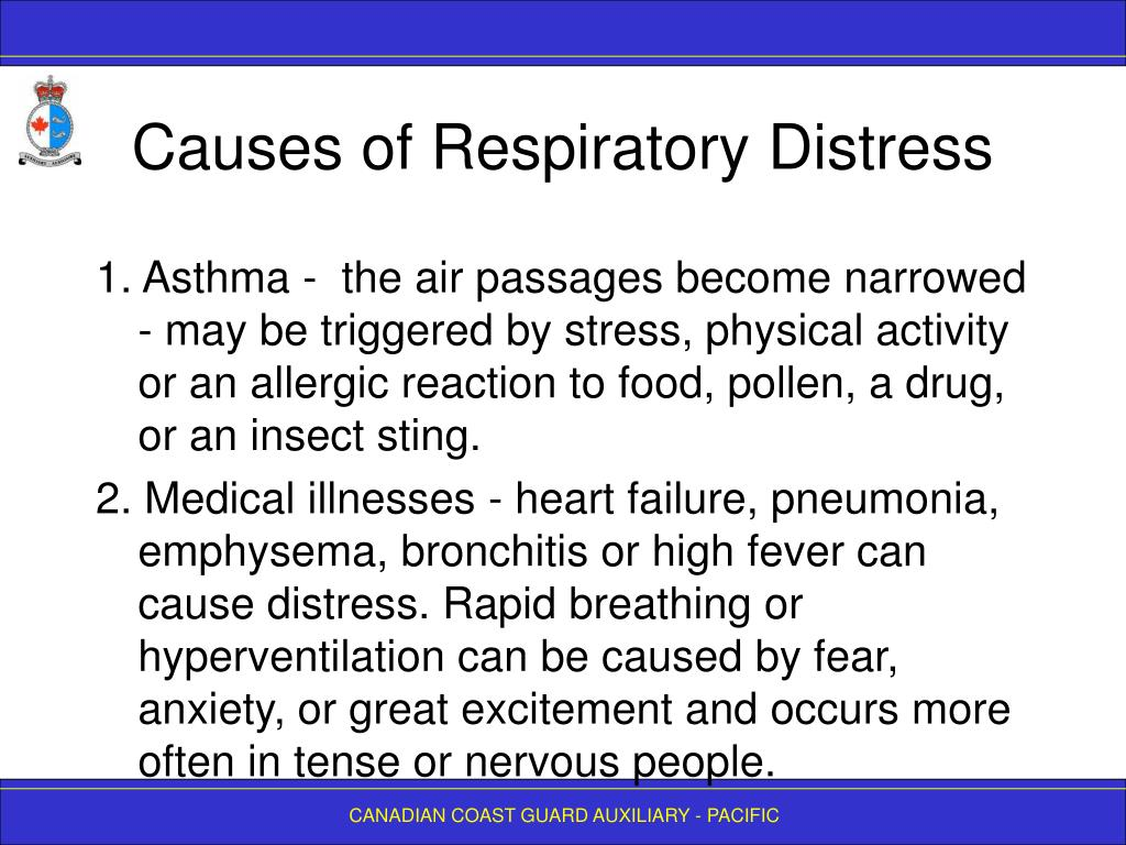 Causes of Respiratory Distress