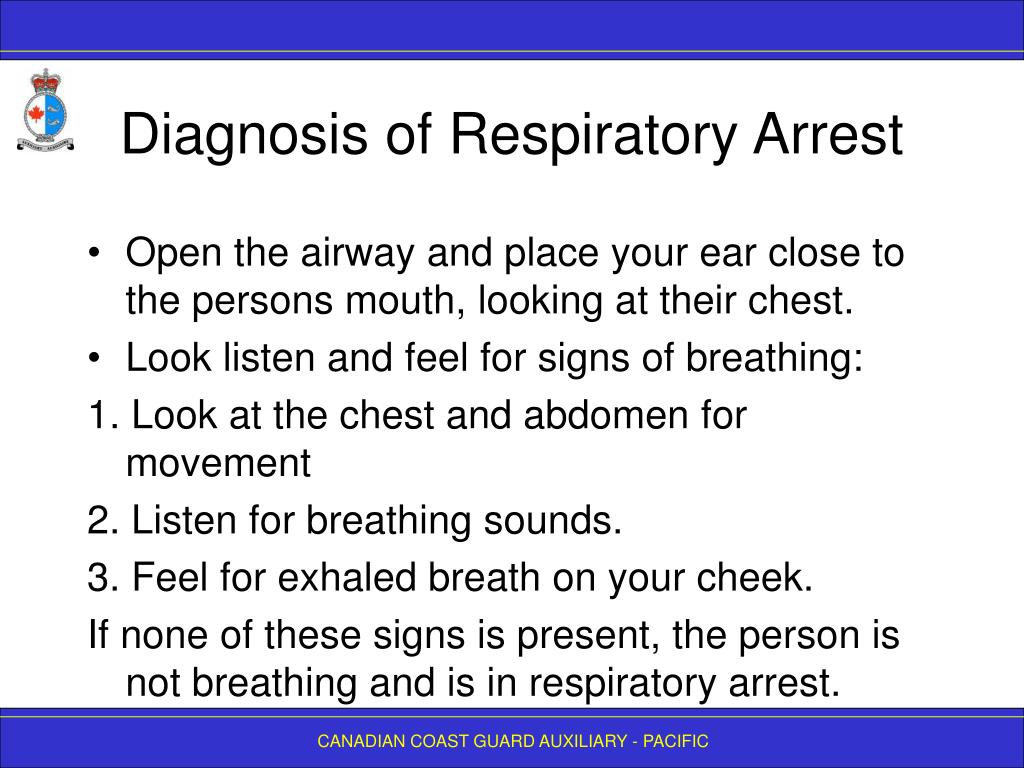 Diagnosis of Respiratory Arrest