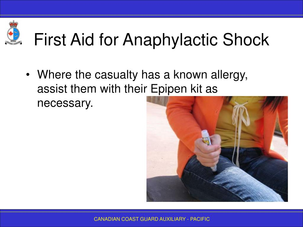 First Aid for Anaphylactic Shock