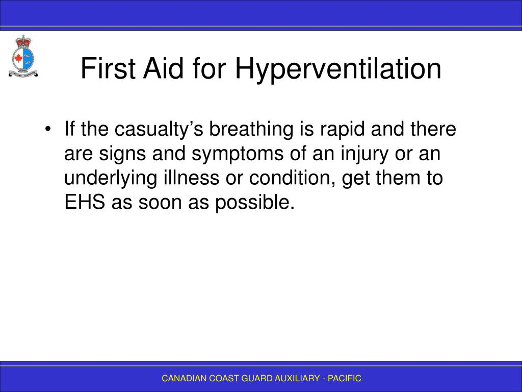 First Aid for Hyperventilation
