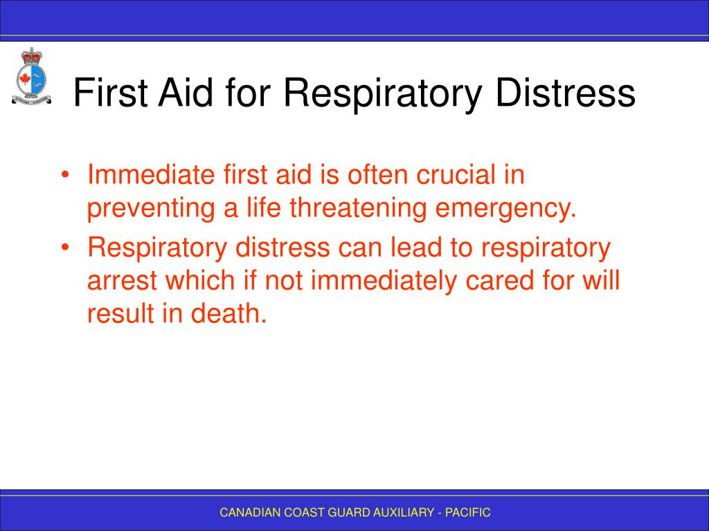 First Aid for Respiratory Distress