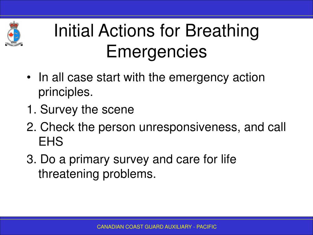 Initial Actions for Breathing Emergencies