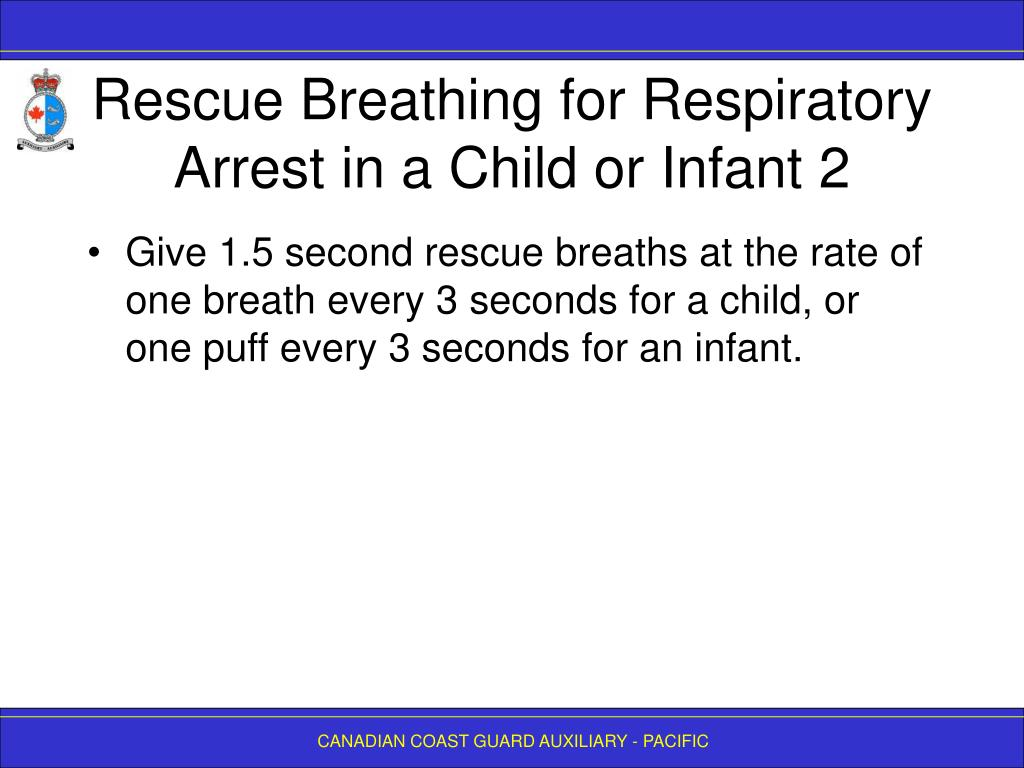 Rescue Breathing for Respiratory Arrest in a Child or Infant 2