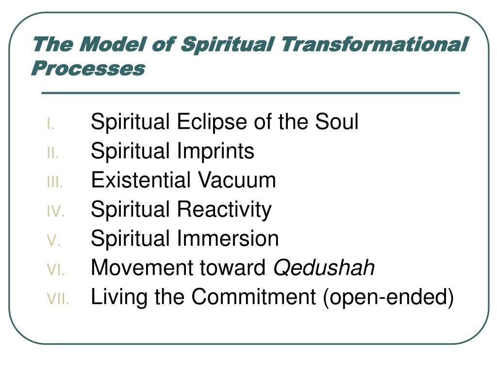 The Model of Spiritual Transformational Processes