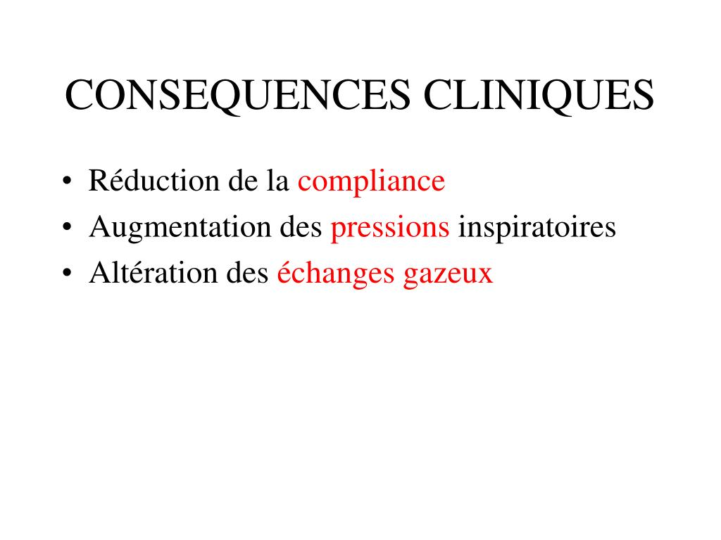 CONSEQUENCES CLINIQUES