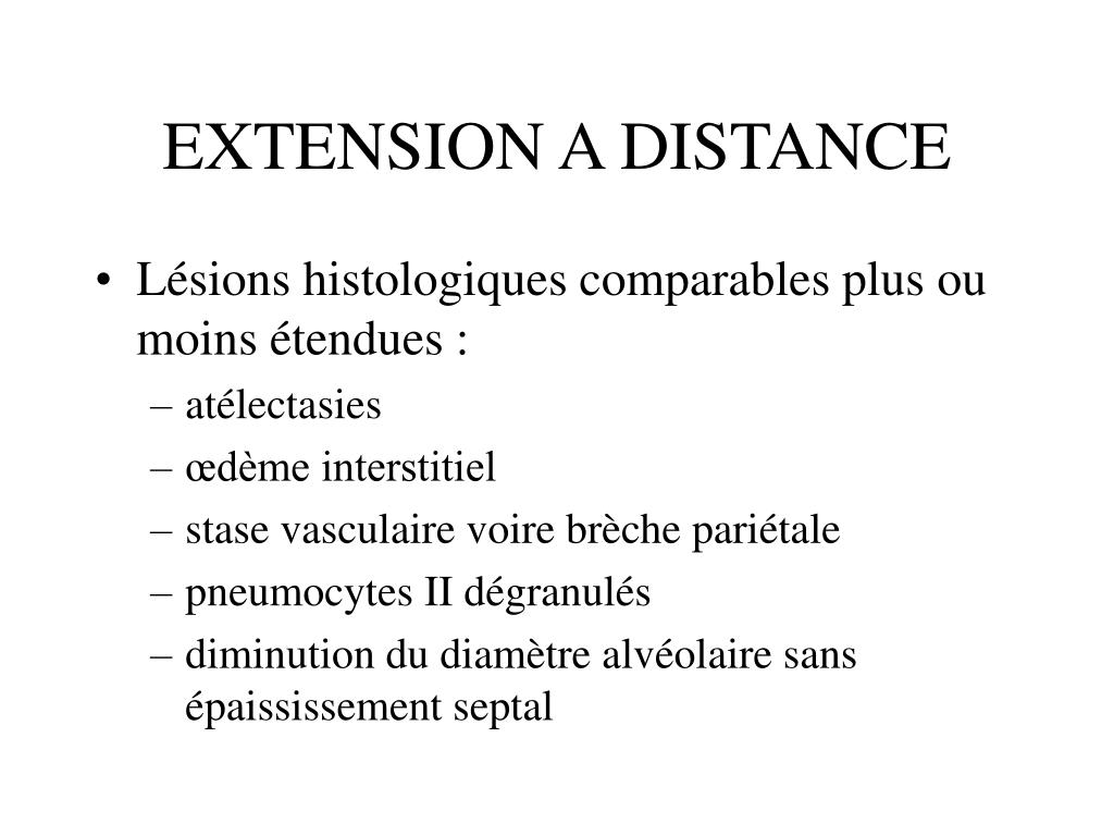 EXTENSION A DISTANCE