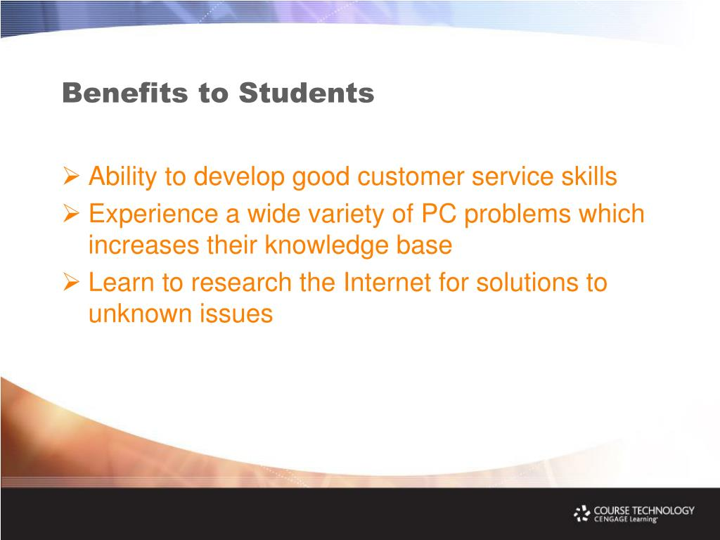 Benefits to Students