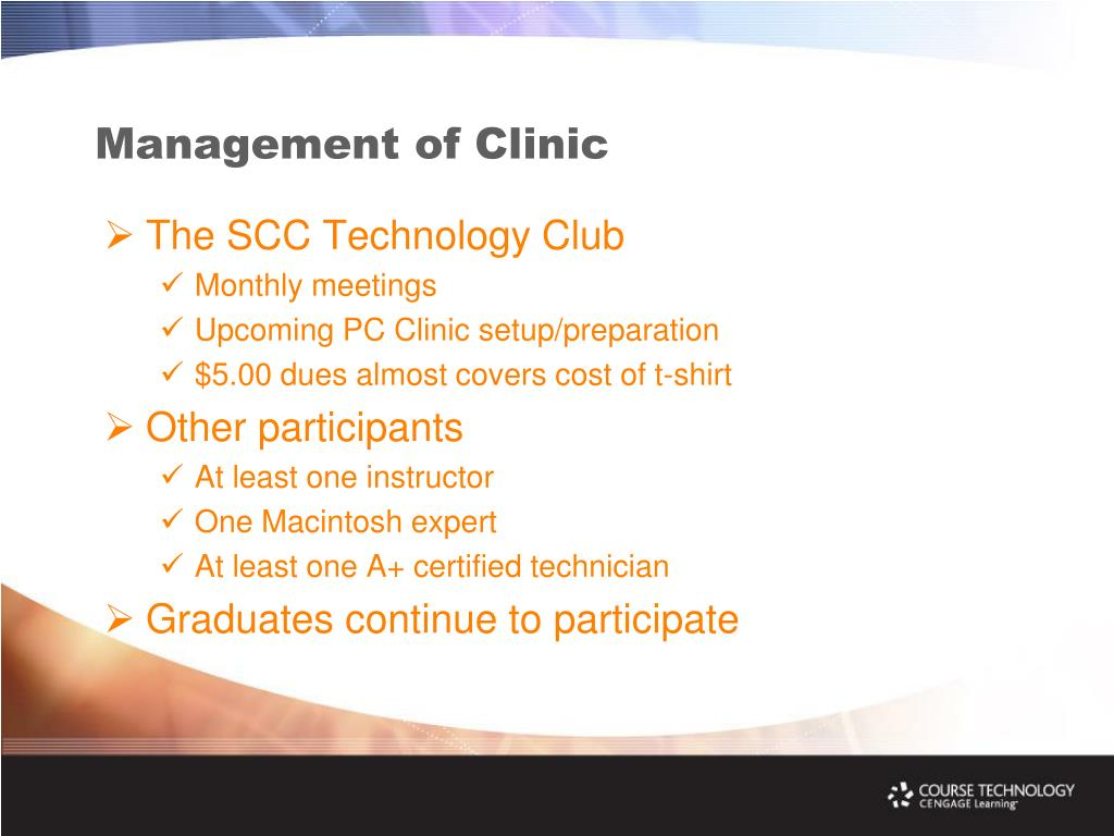Management of Clinic