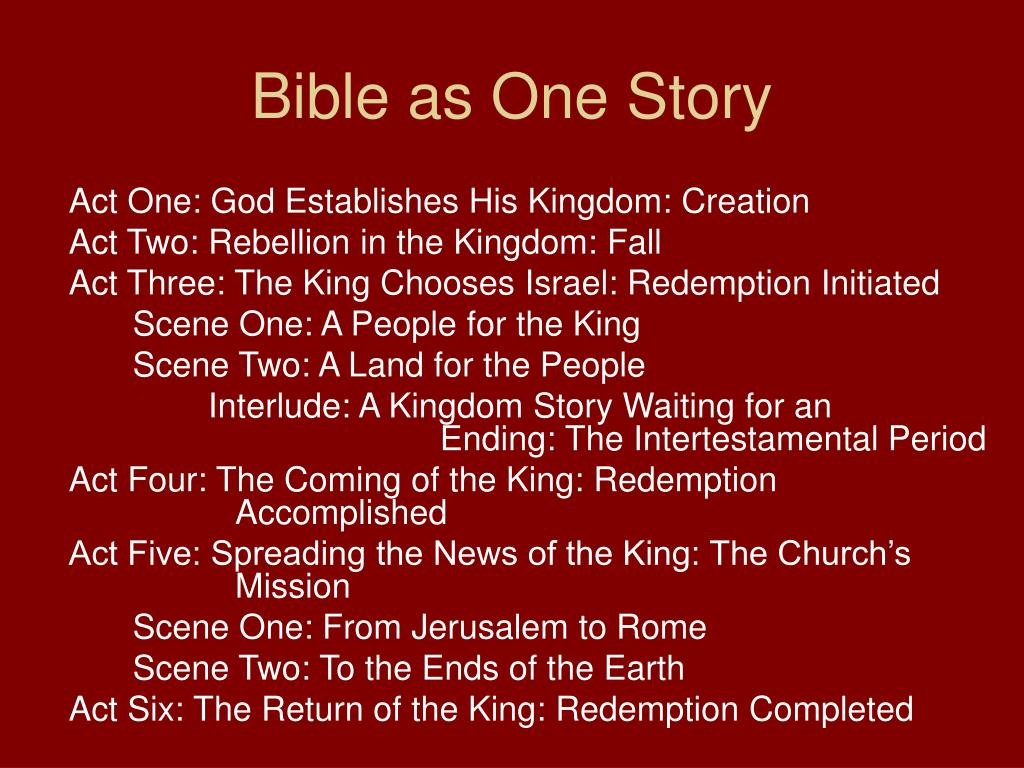 Bible as One Story
