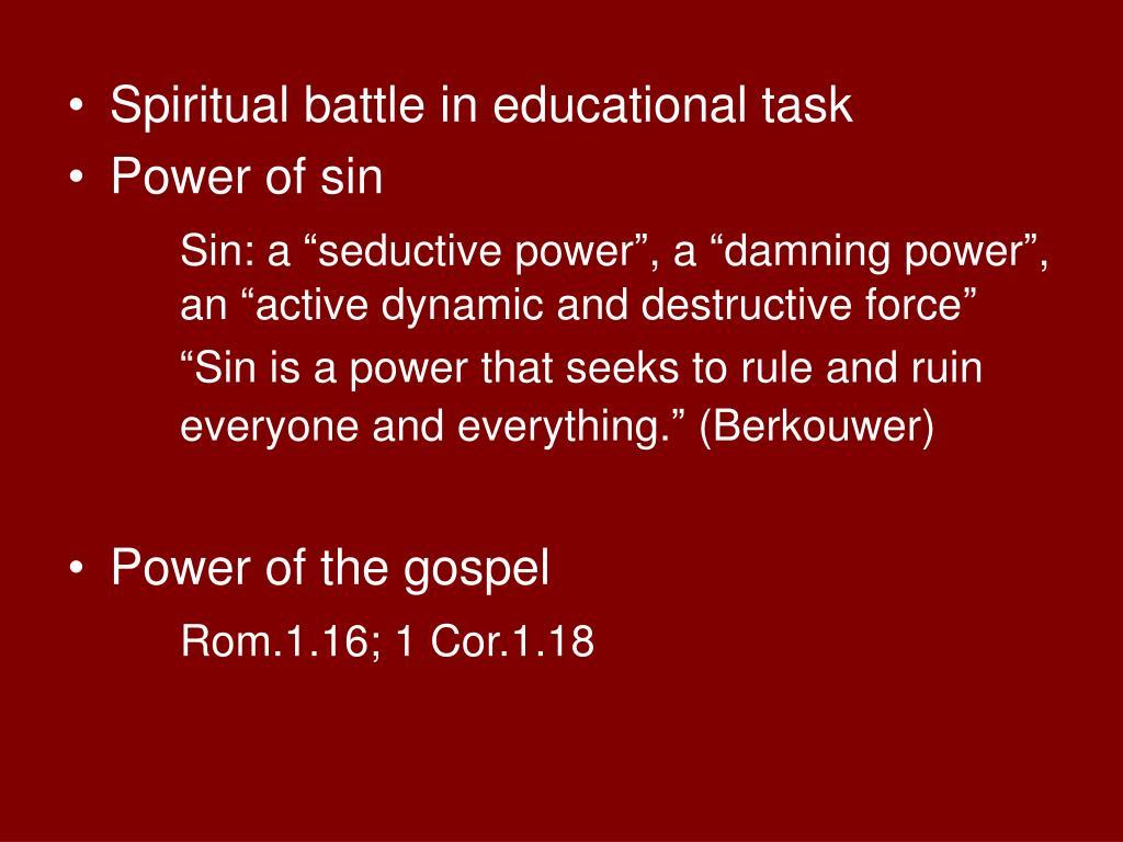 Spiritual battle in educational task