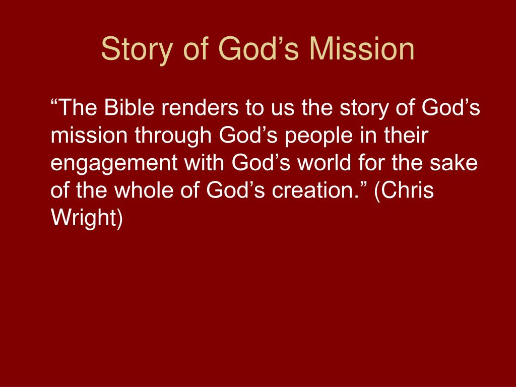 Story of God's Mission