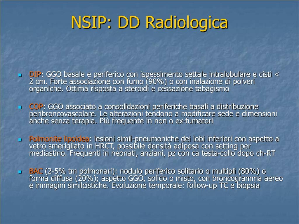 NSIP: DD Radiologica