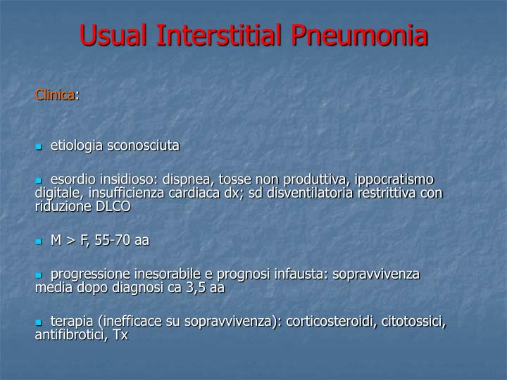 Usual interstitial pneumonia