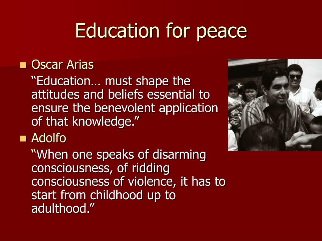 Education for peace