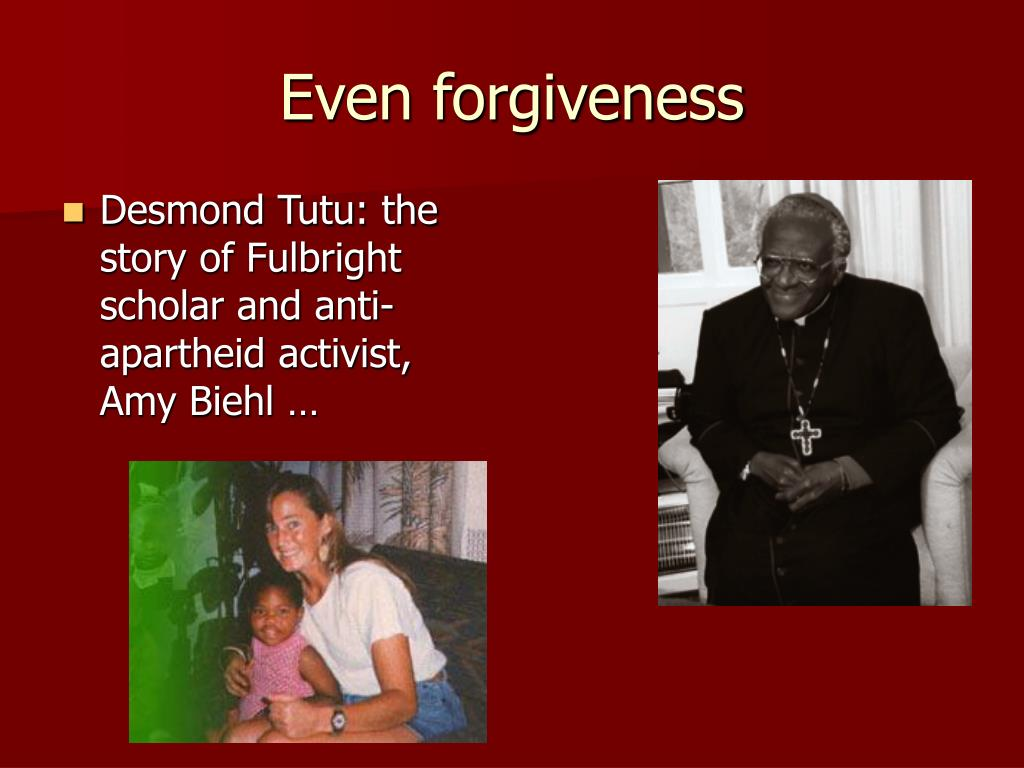 Even forgiveness