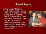 mental peace