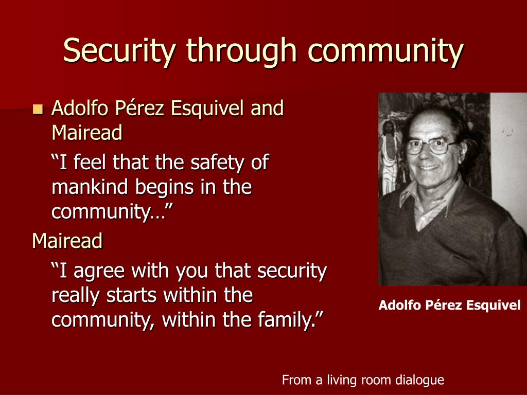 Security through community
