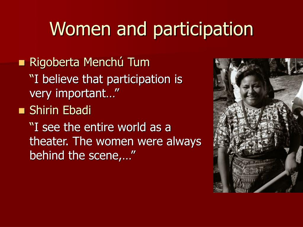 Women and participation