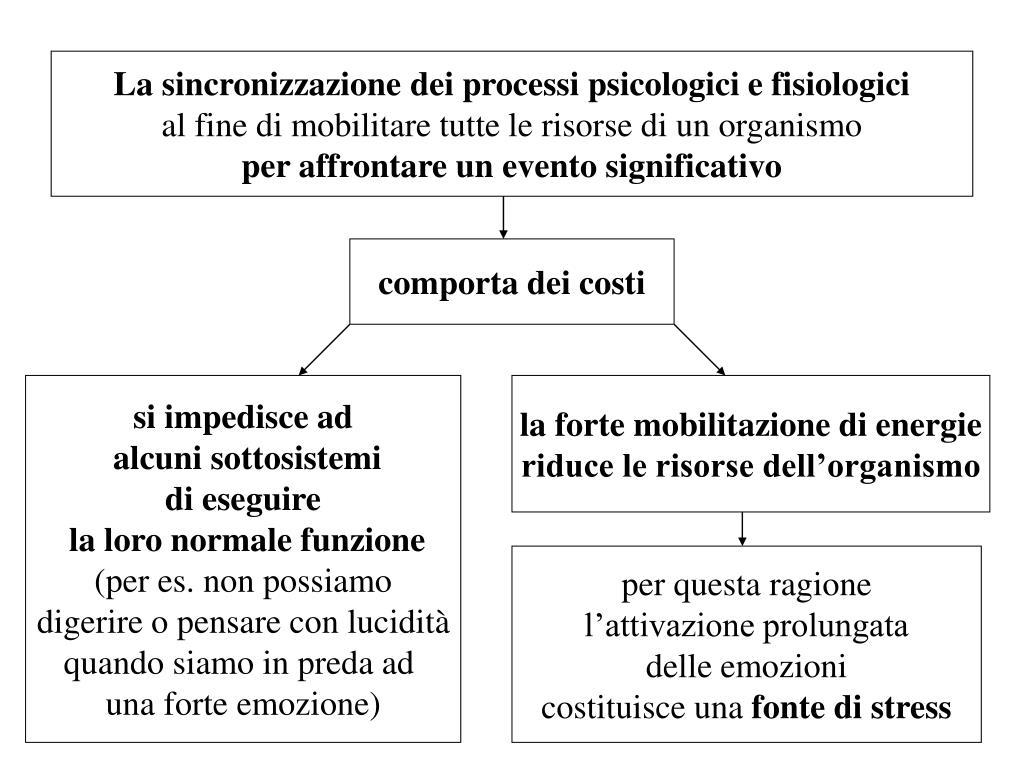 La sincronizzazione dei processi psicologici e fisiologici