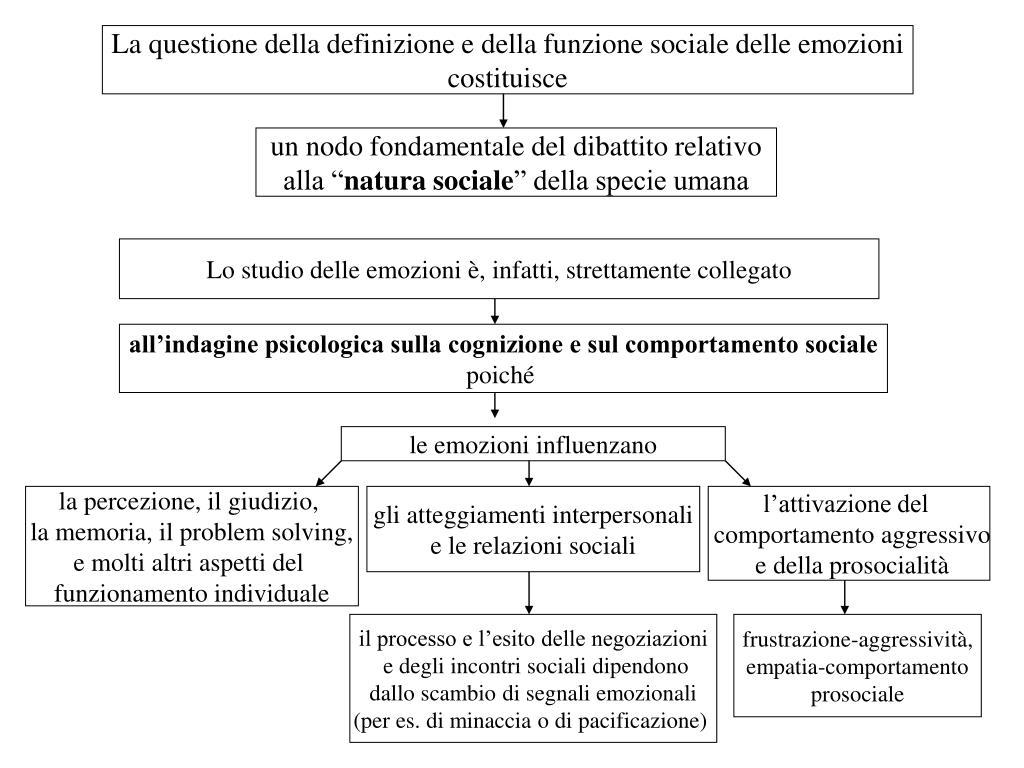 La questione della definizione e della funzione sociale delle emozioni