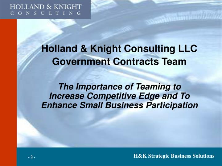 Holland & Knight Consulting LLC