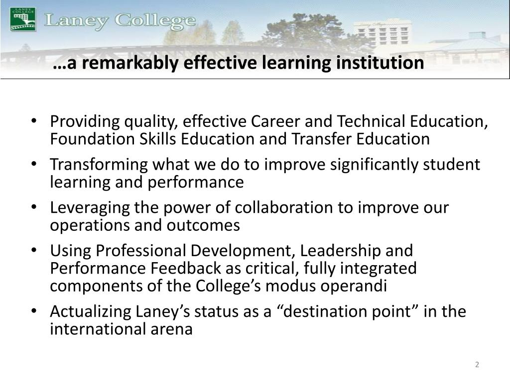 …a remarkably effective learning institution