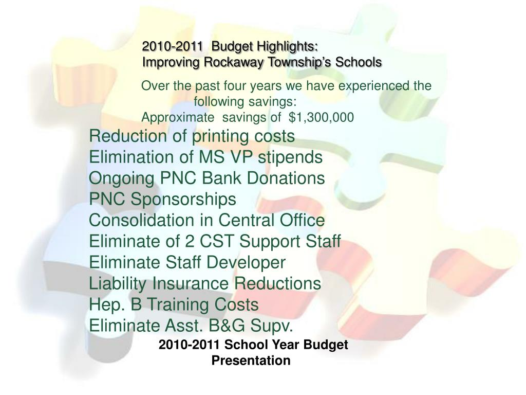 2010-2011  Budget Highlights: