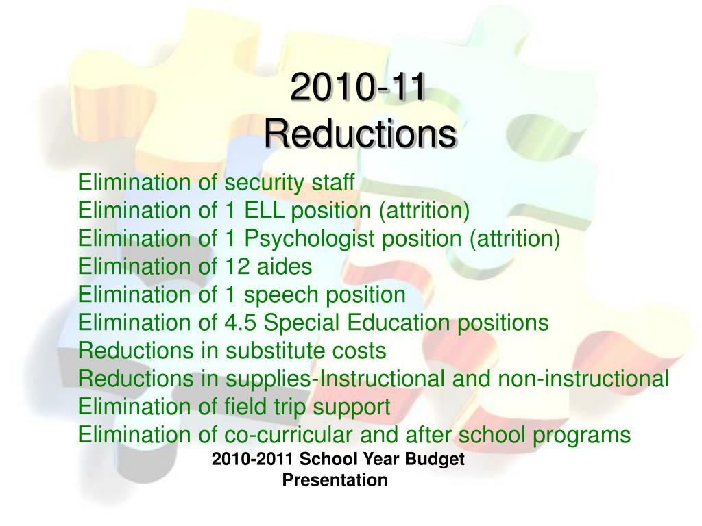 2010-11 Reductions