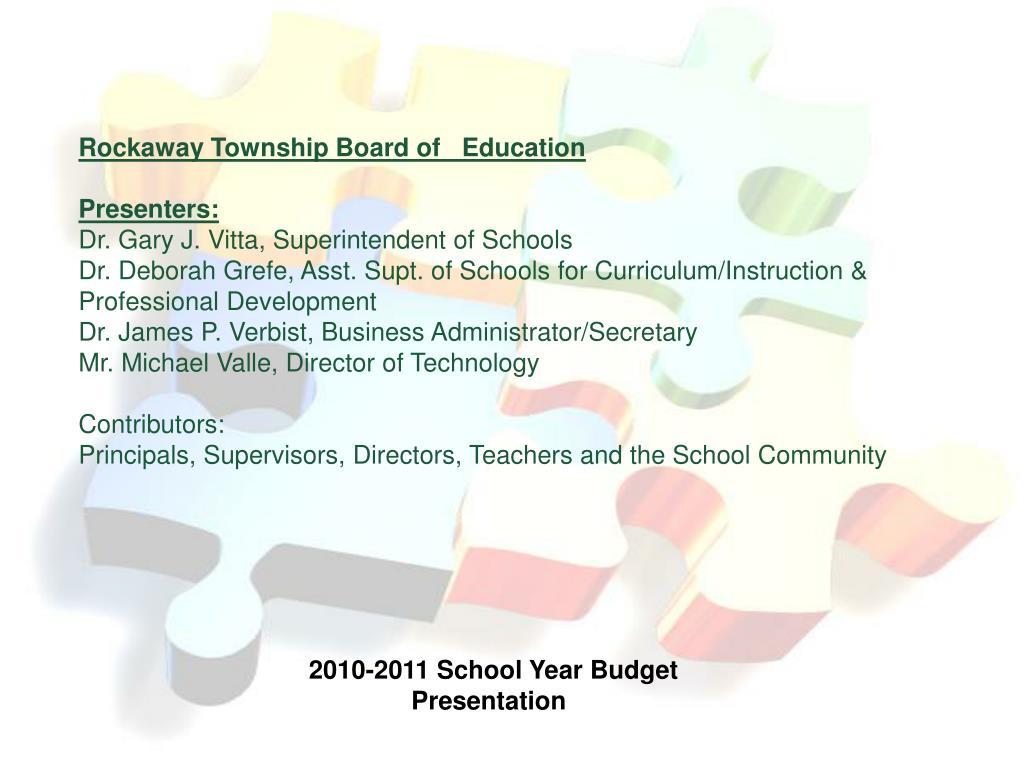 Rockaway Township Board of   Education