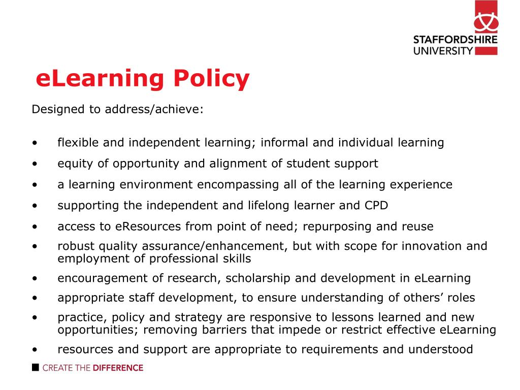 eLearning Policy