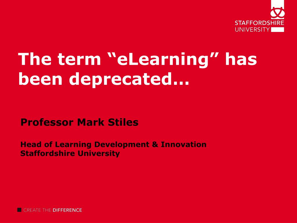"The term ""eLearning"" has been deprecated"