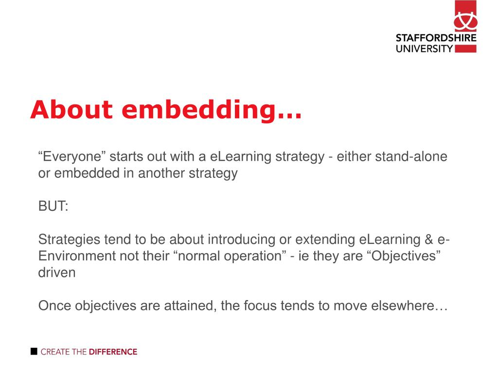 About embedding…