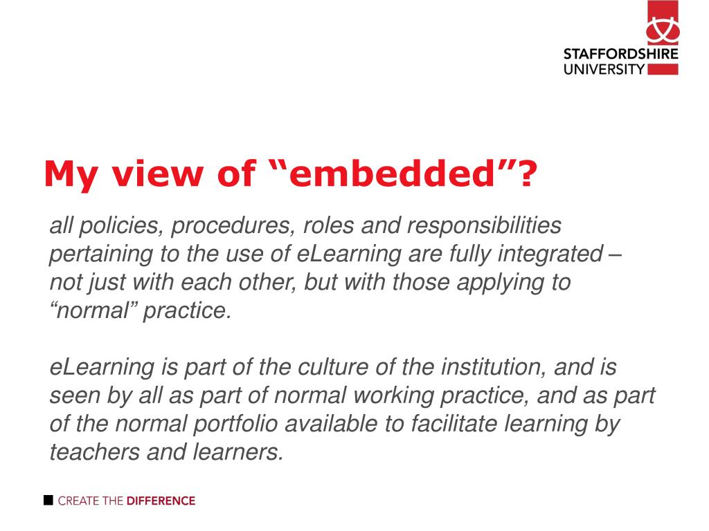 "My view of ""embedded""?"