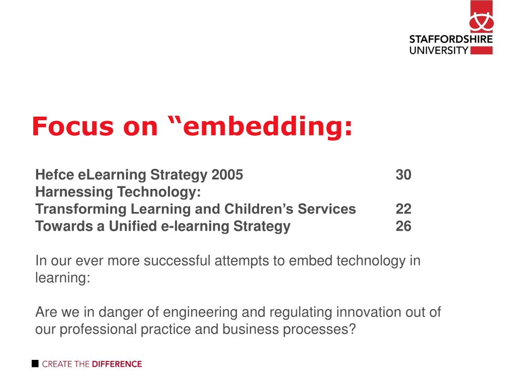 "Focus on ""embedding:"