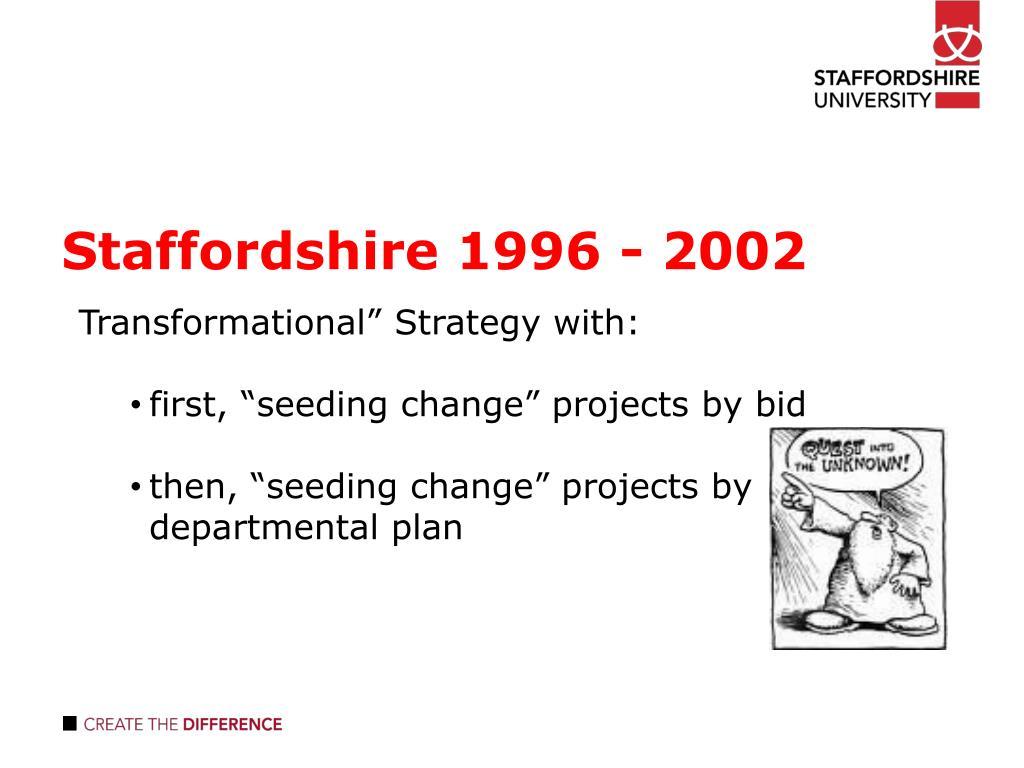 Staffordshire 1996 - 2002