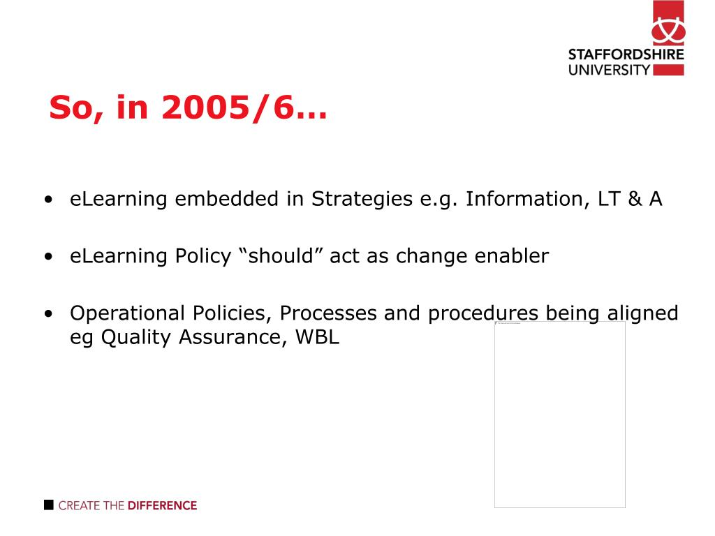 So, in 2005/6…